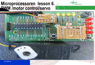 Microprocessoren  lesson 6. PWM /motor control/servo
