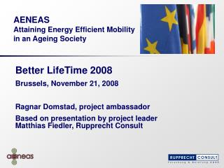 AENEAS Attaining Energy Efficient Mobility in an Ageing Society