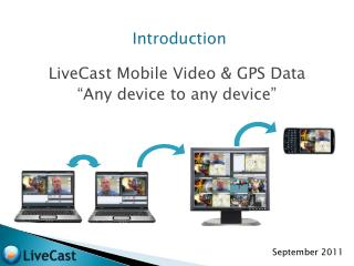 "Introduction LiveCast Mobile Video & GPS Data ""Any device to any device"""