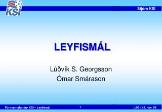 LEYFISMÁL
