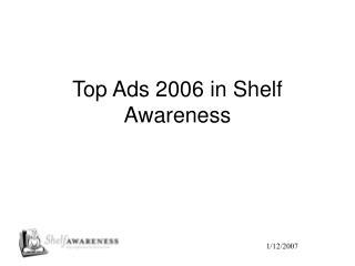 Top Ads 2006 in Shelf Awareness
