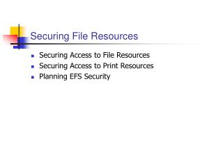 Securing File Resources