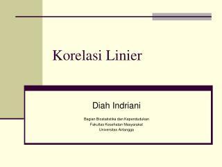 Korelasi Linier