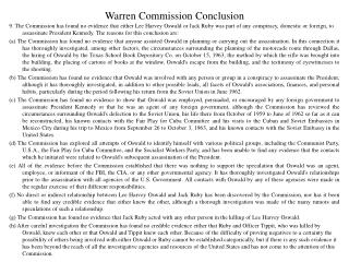 Warren Commission Conclusion