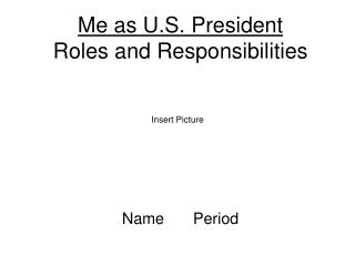 Me as U.S. President Roles and Responsibilities