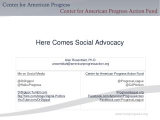 Here Comes Social Advocacy