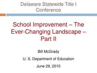 Delaware Statewide Title I Conference