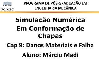 PROGRAMA DE P�S-GRADUA��O EM ENGENHARIA MEC�NICA