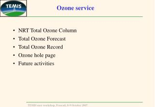 Ozone service