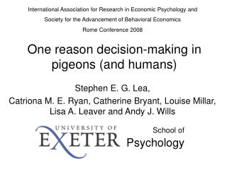 One reason decision-making in pigeons (and humans)