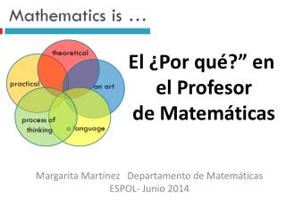 El �Por qu�?� en   el Profesor de Matem�ticas