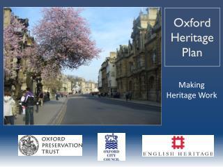 Oxford Heritage Plan