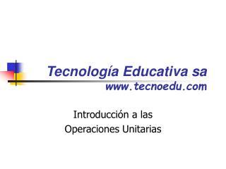 Tecnolog�a Educativa sa tecnoedu