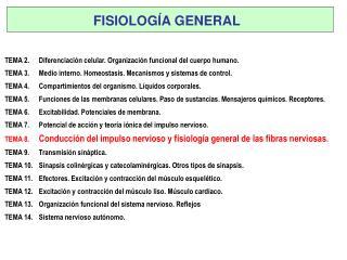 TEMA 2. Diferenciación celular. Organización funcional del cuerpo humano.