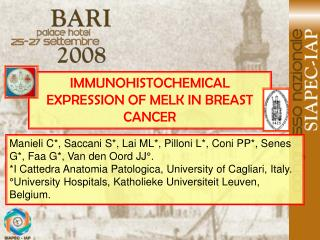 IMMUNOHISTOCHEMICAL EXPRESSION OF MELK IN BREAST CANCER