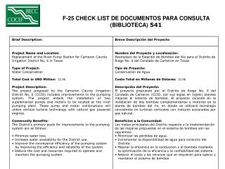 F-25 CHECK LIST DE DOCUMENTOS PARA CONSULTA  (BIBLIOTECA)  541