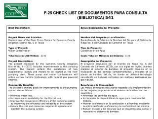 F-25 CHECK LIST DE DOCUMENTOS PARA CONSULTA  (BIBLIOTECA)  541