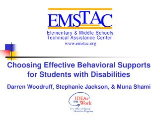 Choosing Effective Behavioral Supports for Students with Disabilities