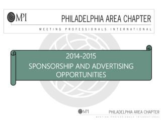 2014-2015 SPONSORSHIP AND ADVERTISING OPPORTUNITIES