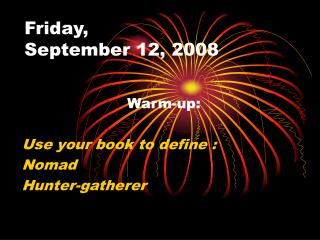 Friday,  September 12, 2008