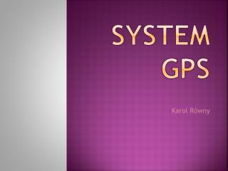 System GPS