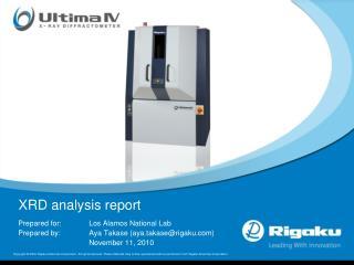 XRD analysis report