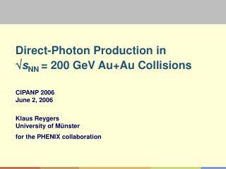 Direct-Photon Production in   s NN  = 200 GeV Au+Au Collisions