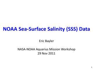 NOAA Sea-Surface Salinity (SSS) Data