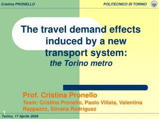The travel demand effects induced by a new transport system: the Torino metro
