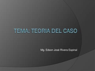 TEMA: TEORIA DEL CASO