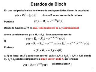 Estados de Bloch