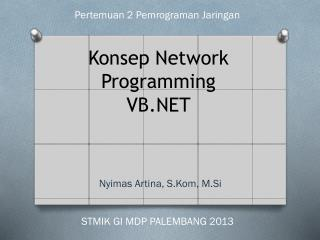 Konsep  Network Programming VB.NET