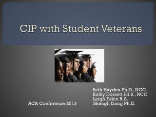 CIP with Student Veterans