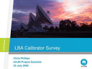 LBA Calibrator Survey