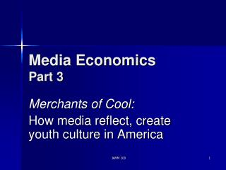 Media Economics Part 3