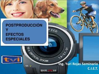 Ing. Yuri Rojas Seminario C.I.E.T.