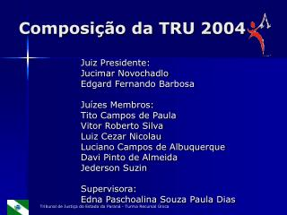 Composição da TRU 2004