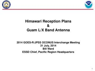 Himawari Reception Plans  &  Guam L/X Band Antenna