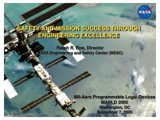 SAFETY AND MISSION SUCCESS THROUGH ENGINEERING EXCELLENCE