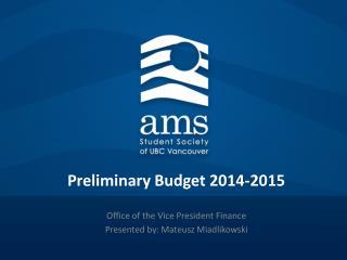 Preliminary Budget 2014-2015