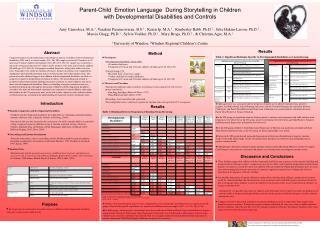 Parent-Child  Emotion Language  During Storytelling in Children
