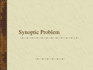 Synoptic Problem