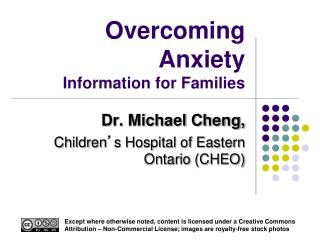 Overcoming Anxiety Information for Families