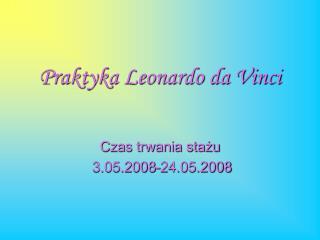 Praktyka Leonardo da Vinci