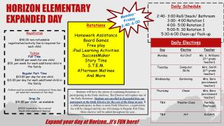 Horizon Elementary expanded day