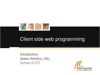 Client side web programming