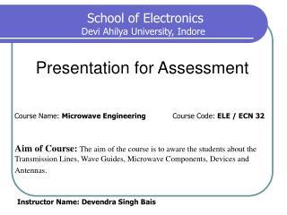Presentation for Assessment