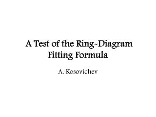 A Test of the Ring-Diagram Fitting Formula