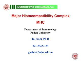 INSTITUTE FOR IMMUNOBIOLOGY