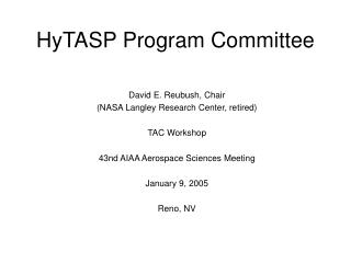 HyTASP Program Committee